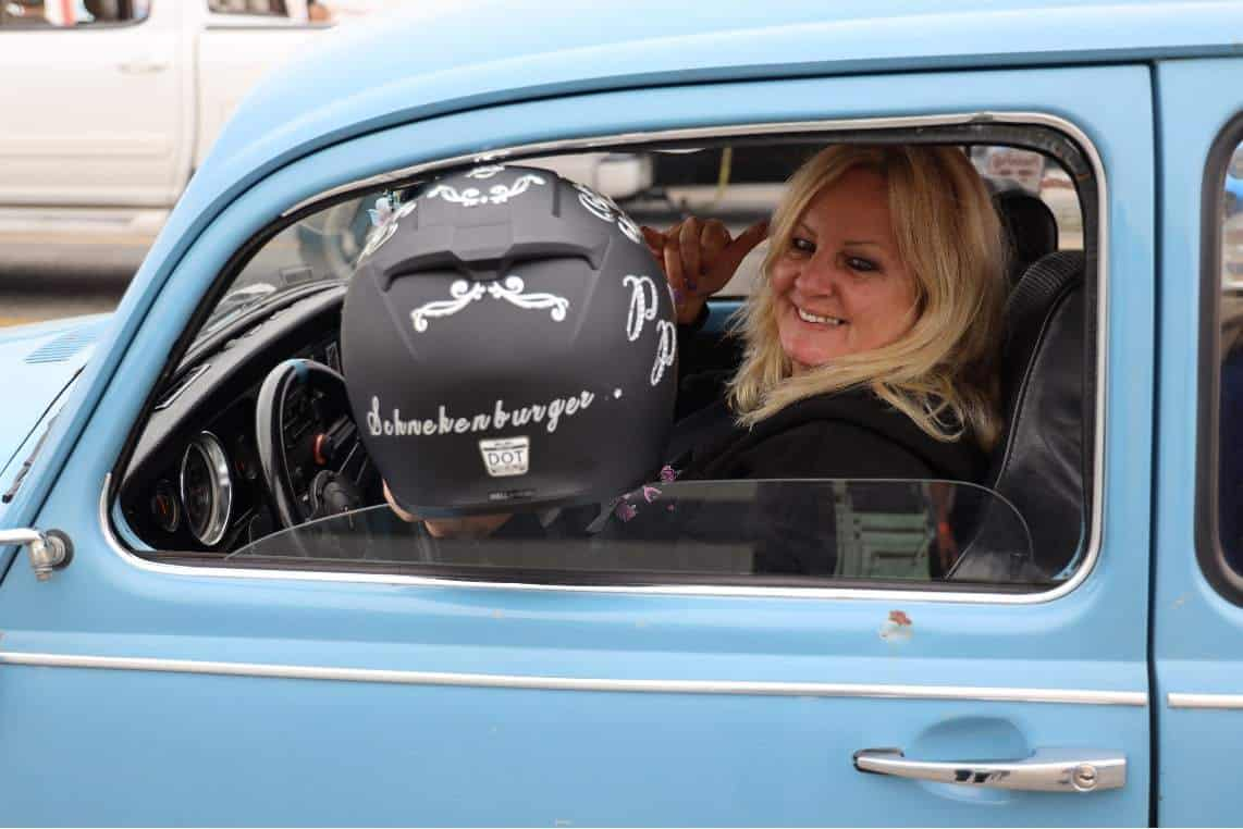 Racer Laura Schnekenburger at VW Bug Drag Race