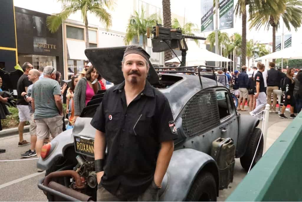 Raul Contreras with his 1966 Baja Beetle at the Rodeo Drive Concours d'Elegance