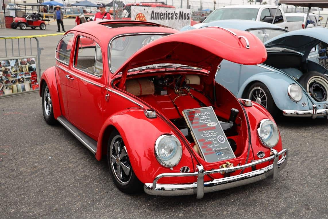 Red Volkswagen Bug 1966