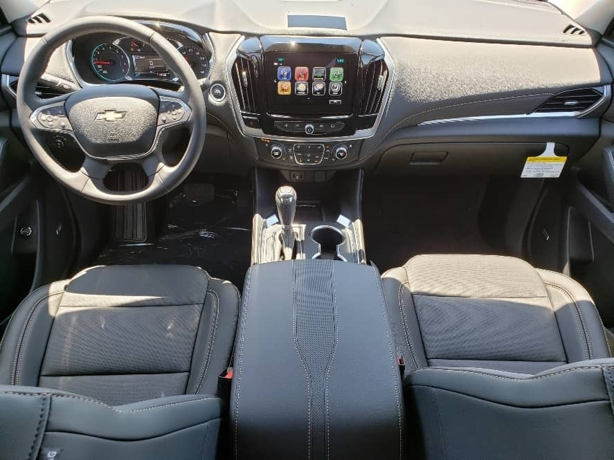 front seats and dash from second row- 2019 Chevy Traverse Review