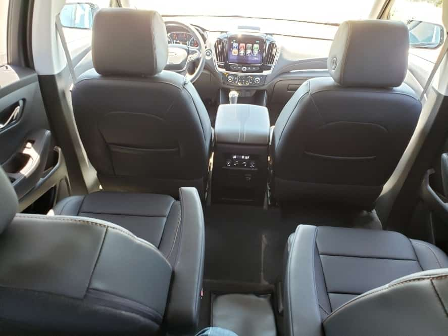 view from third row seating during my 2019 Chevy Traverse review