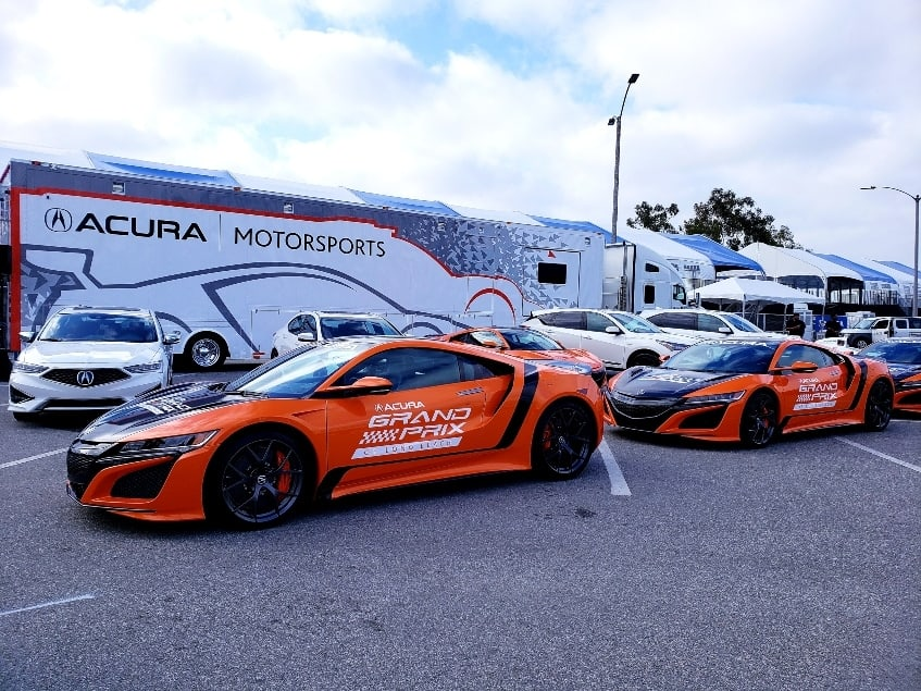 Acura Motorsports on display.
