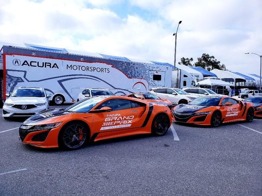 Acura Motorsports on display.
