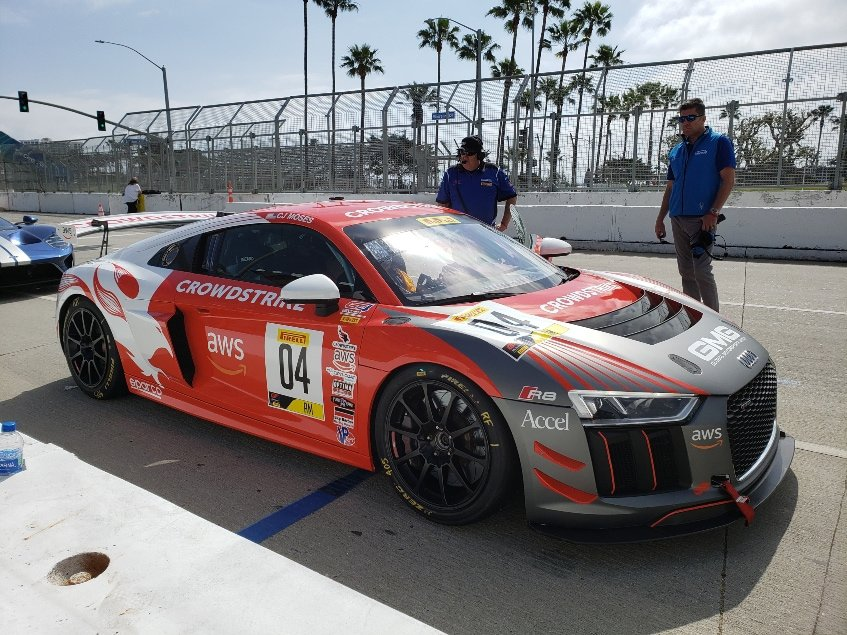 Audi R8 ready for takeoff at the Long Beach Grand Prix