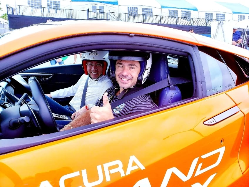 Thumbs up for Long Beach Grand Prix hot lap