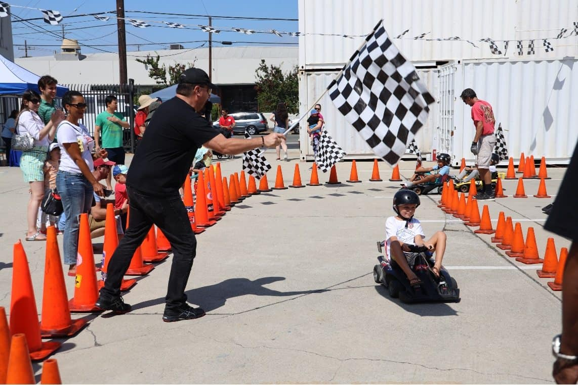 Checkered Flag at Hot Wheels Garage