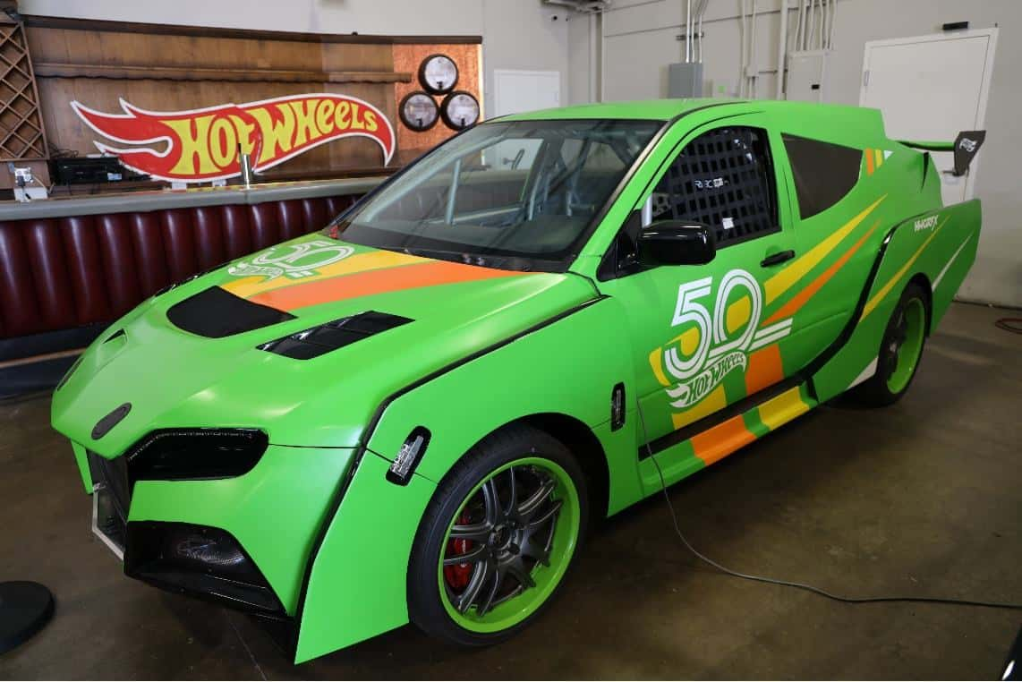 Life-sized Hot Wheels Car, Green, Rally Car, 50th Anniversary