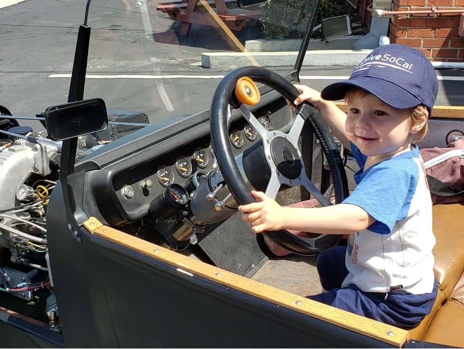 Toddler Smith At the Wheel