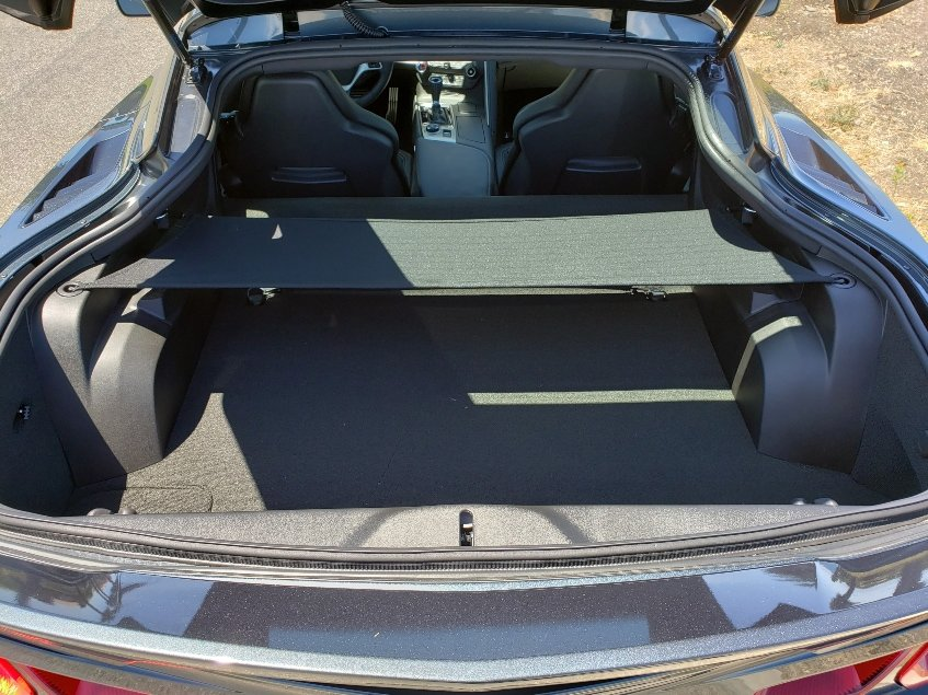 Cargo area in the 2019 Chevy Corvette