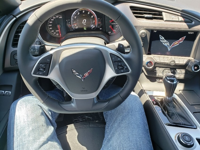 Inside 2019 Corvette Stingray - driver focused cockpit