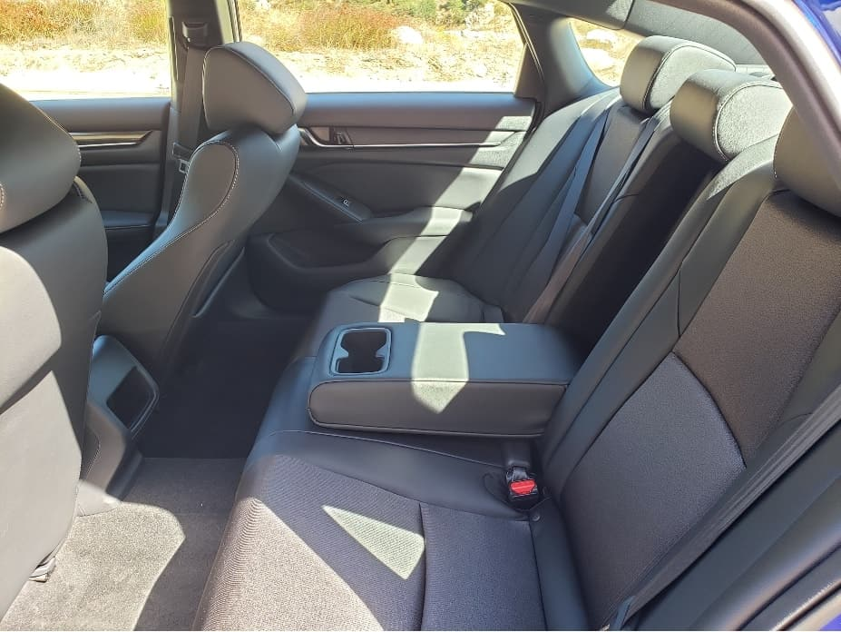 2020 Honda Accord backseat with armrest down