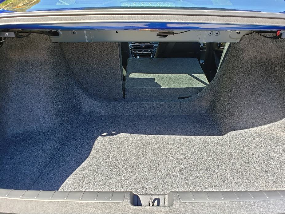 2020 Honda Accord cargo area with backseat down