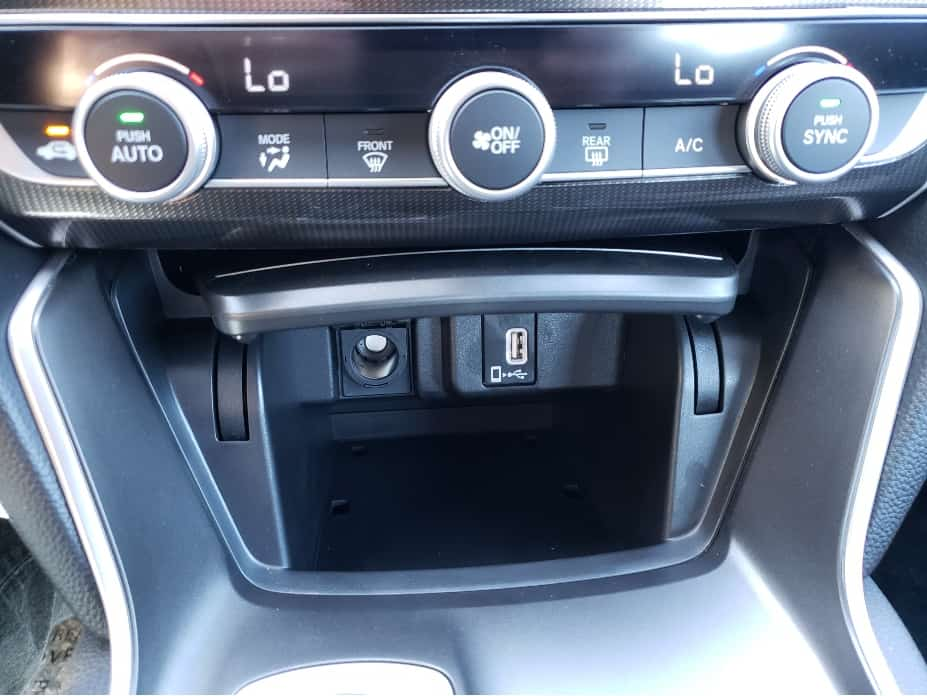 2020 Honda Accord center stack bottom storage