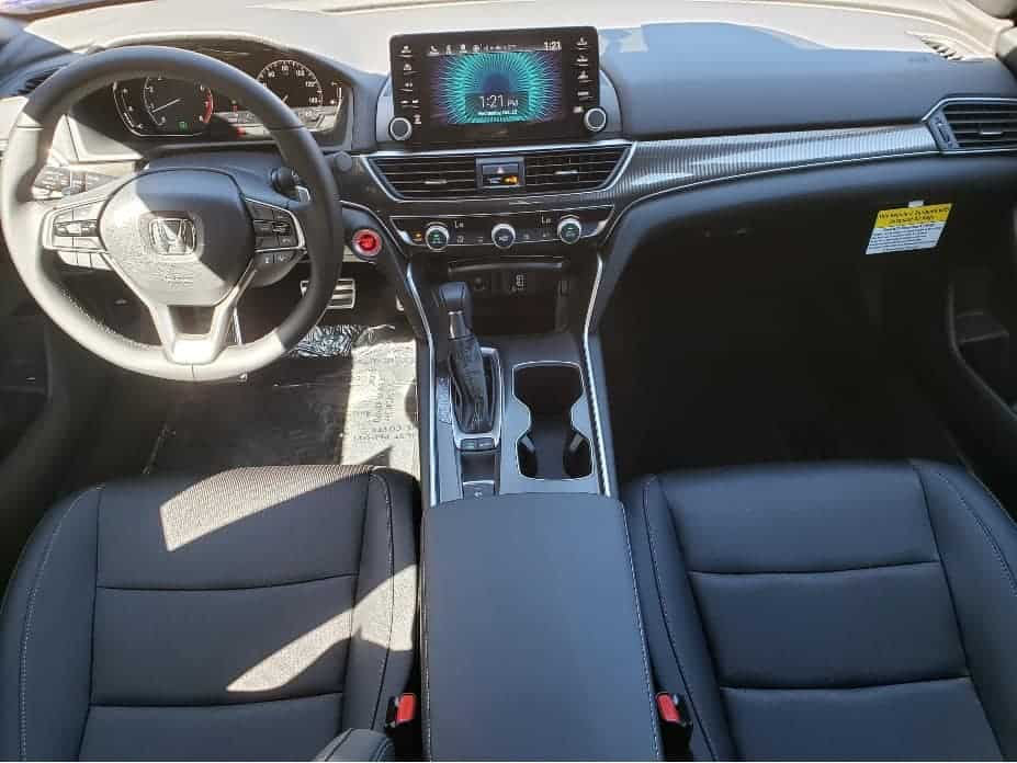 2020 Honda Accord front seats from backseat