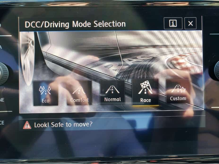2019 Golf R Driving Modes