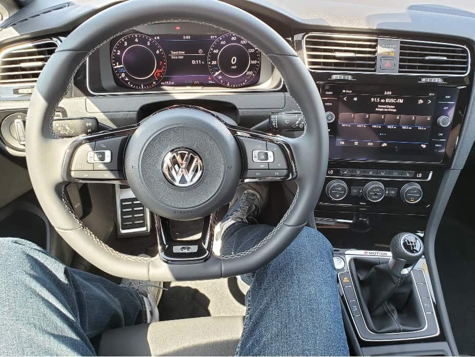2019 VW Golf R cockpit