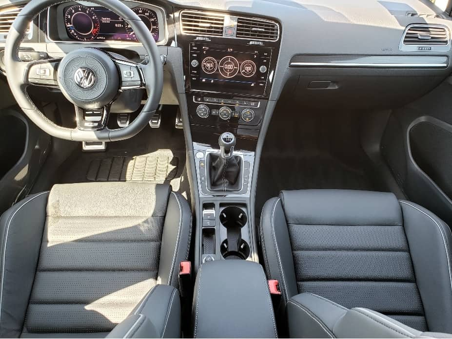2019 Volkswagen Golf R front seat from rear
