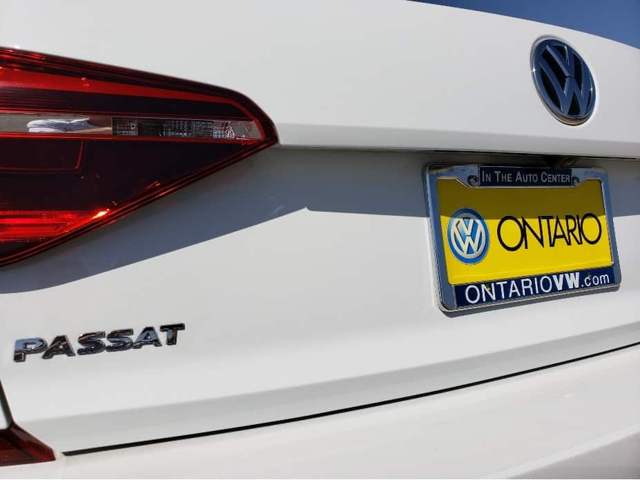 2019 Volkswagen Passat rear badging and plate