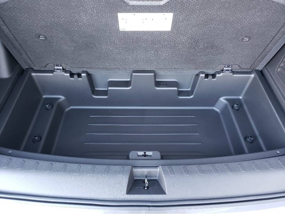 2020 Chevy Traverse under cargo storage