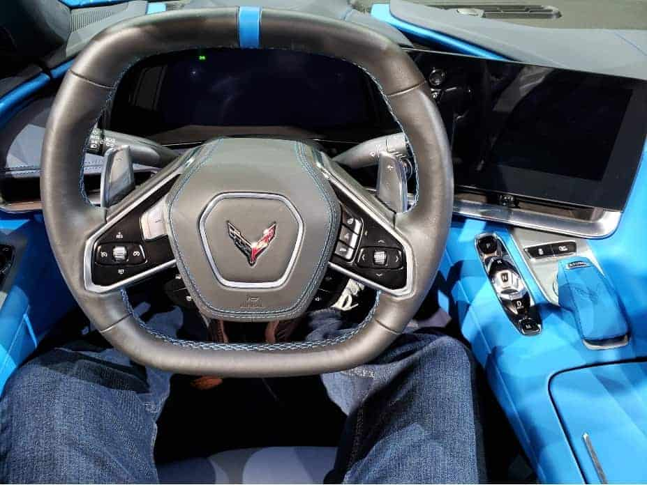 2020 Corvette convertible cockpit