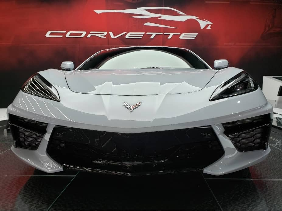 2020 Corvette coupe front