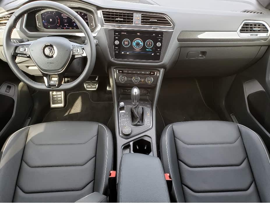 2020 VW Tiguan front seats and dash