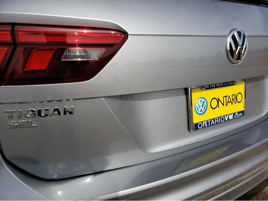 2020 VW Tiguan rear model badge and plate