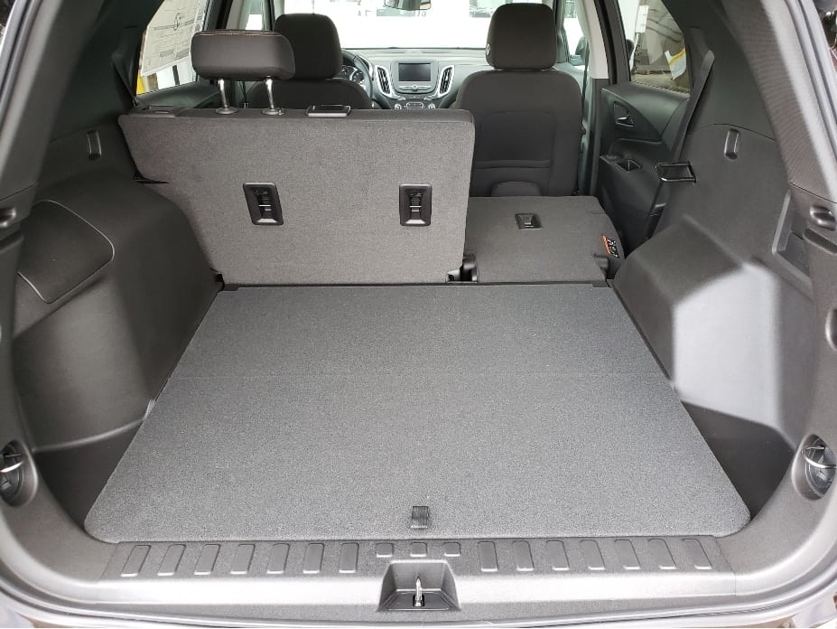 2020 Chevy Equinox cargo area w. backseat partial down
