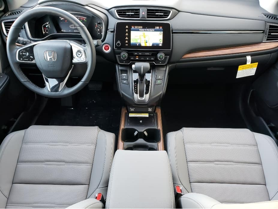 2020 Honda CR-V front seats and dash from backseat