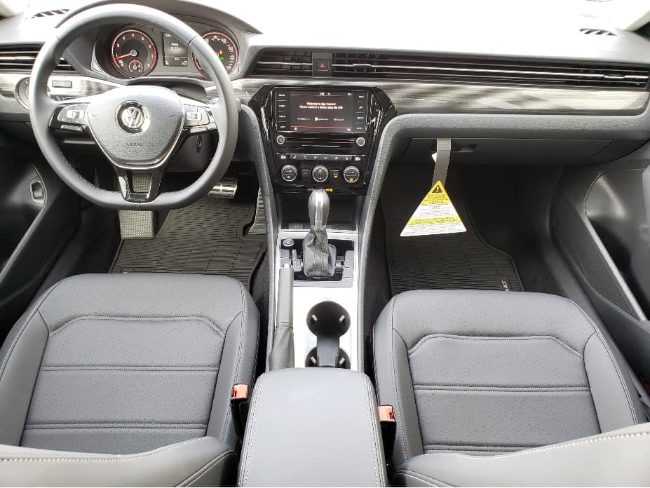 2020 Volkswagen Passat front seats and dash from back