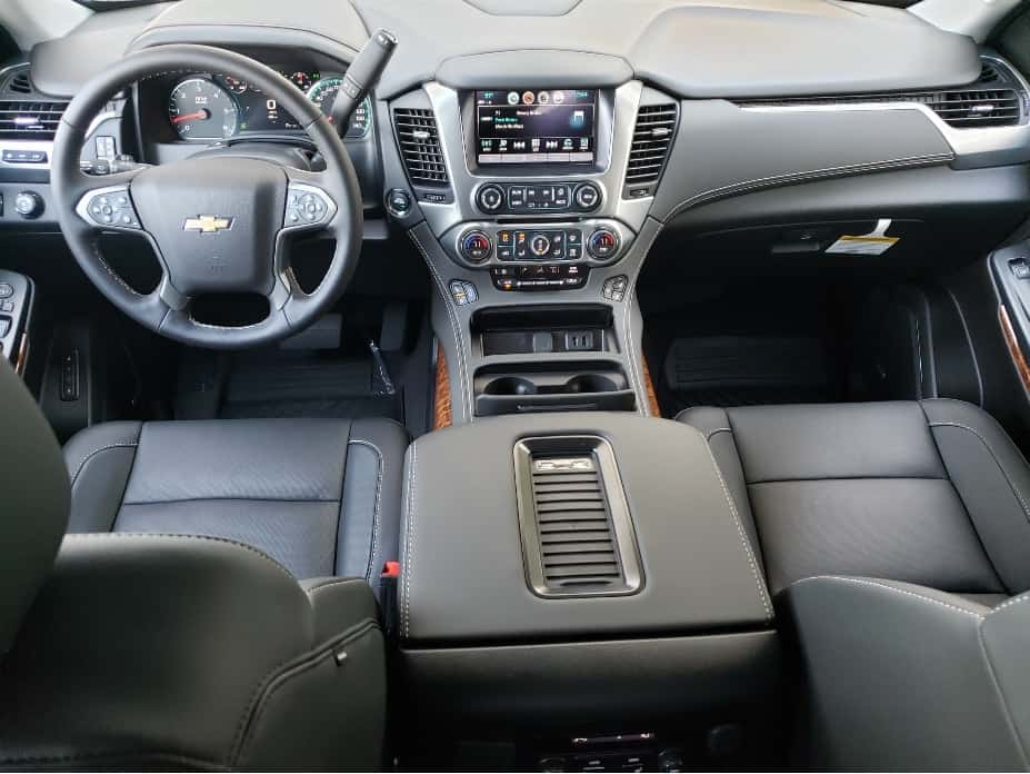 2020 Chevrolet Tahoe front row and dash