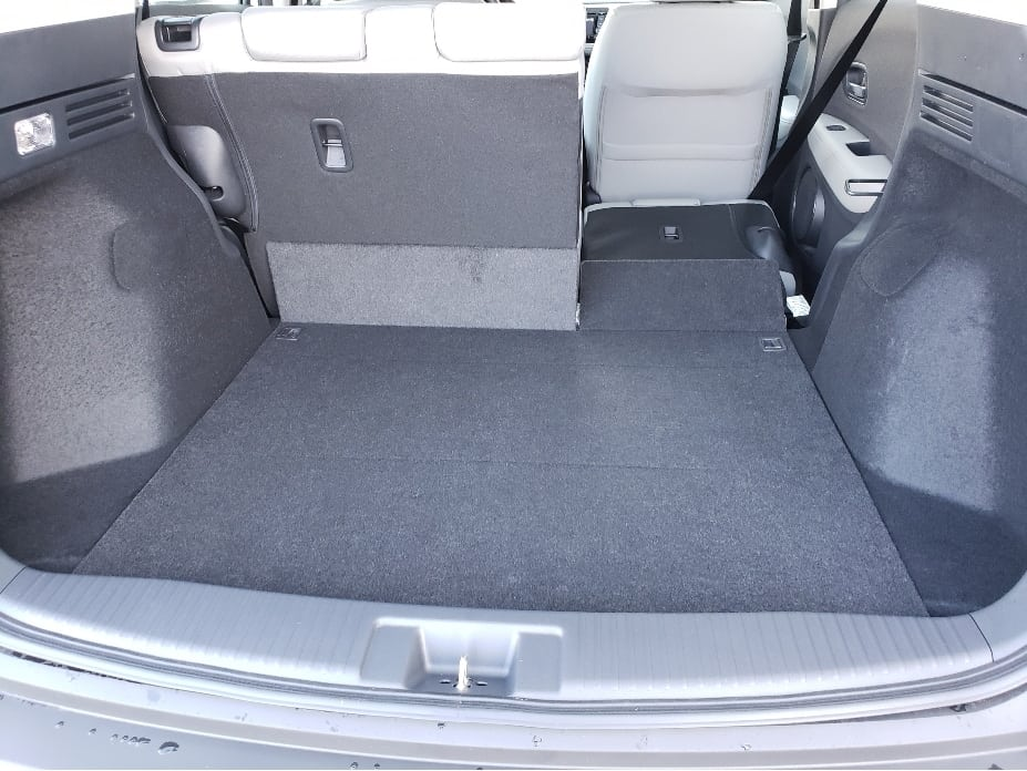 2020 Honda HR-V cargo area w. backseat partial down