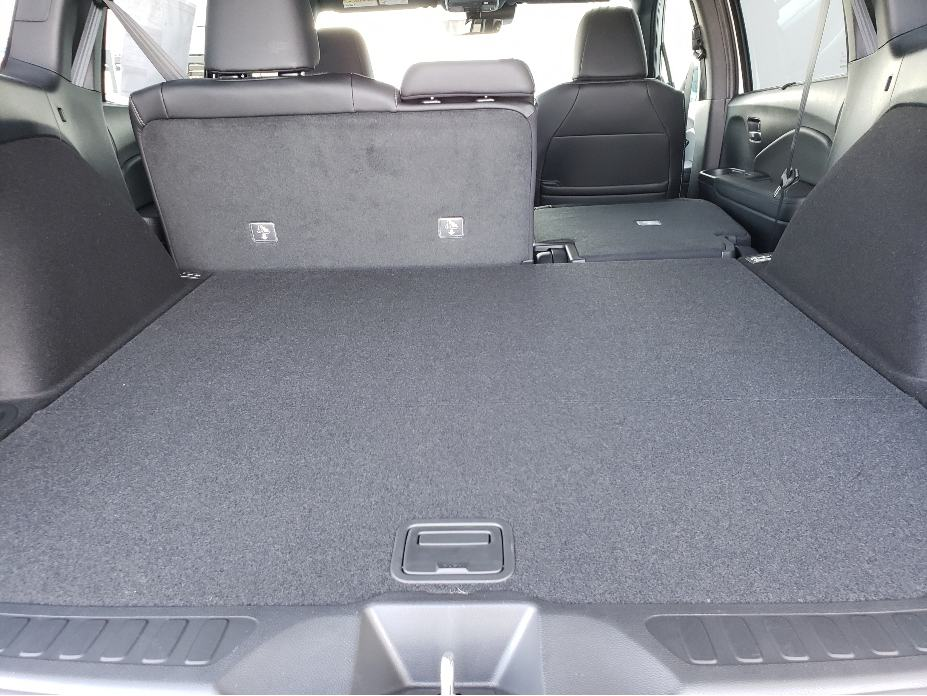 cargo space w. back seat partially down