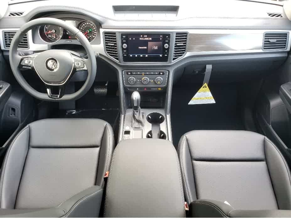 front seats and dash from backseat