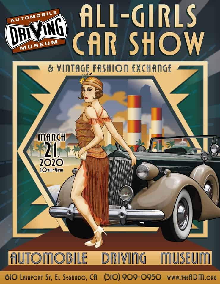 All Girls Car Show poster