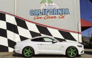 Social Saturdays CA Car Cover Mustang
