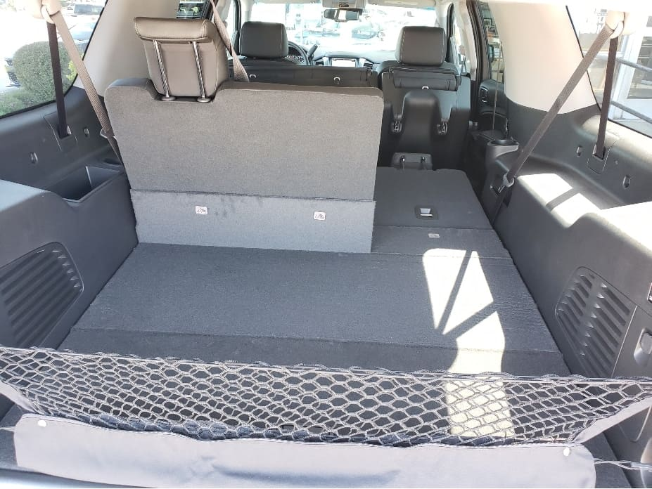 cargo area with seats partially down