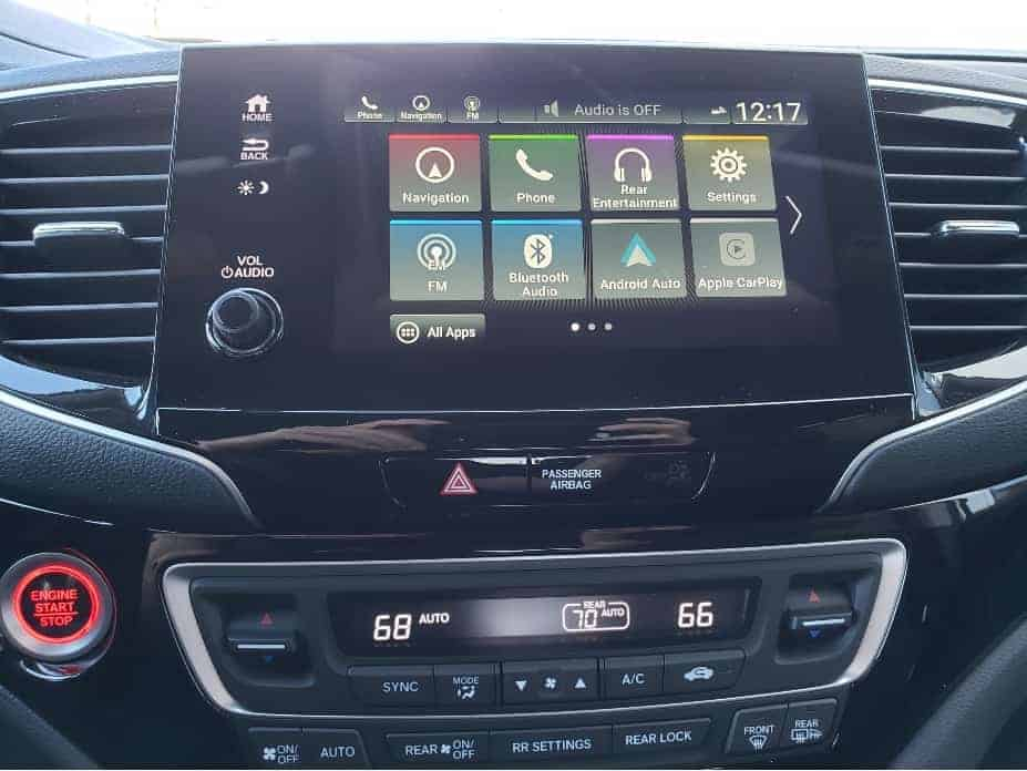 Infotainment and climate controls