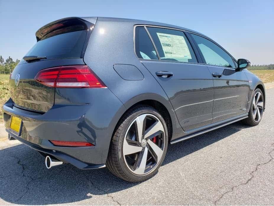 2020 VW Golf GTI - gray - passenger rear