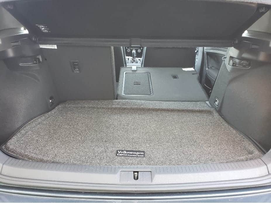 cargo area w/ backseats partially down