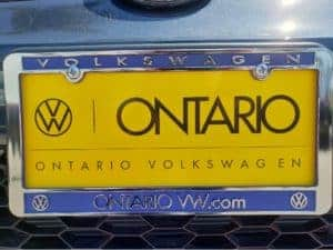 2020 Volkswagen Golf GTI front plate