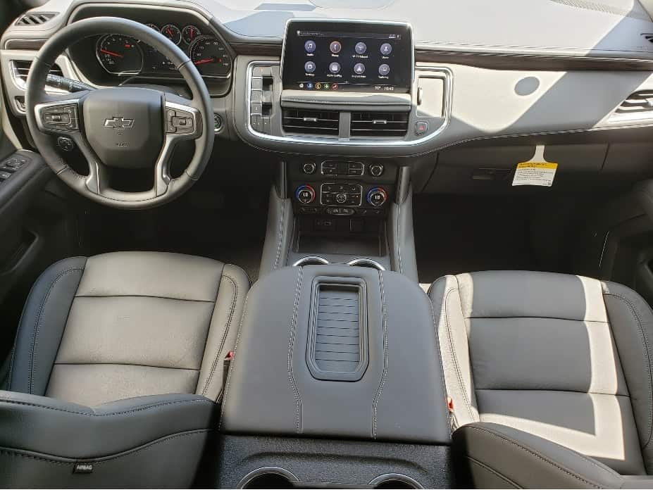 2021 Chevy Tahoe front seats and dash