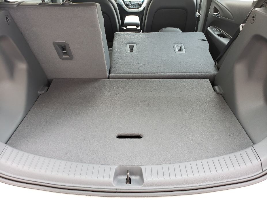 cargo area with backseat partial down