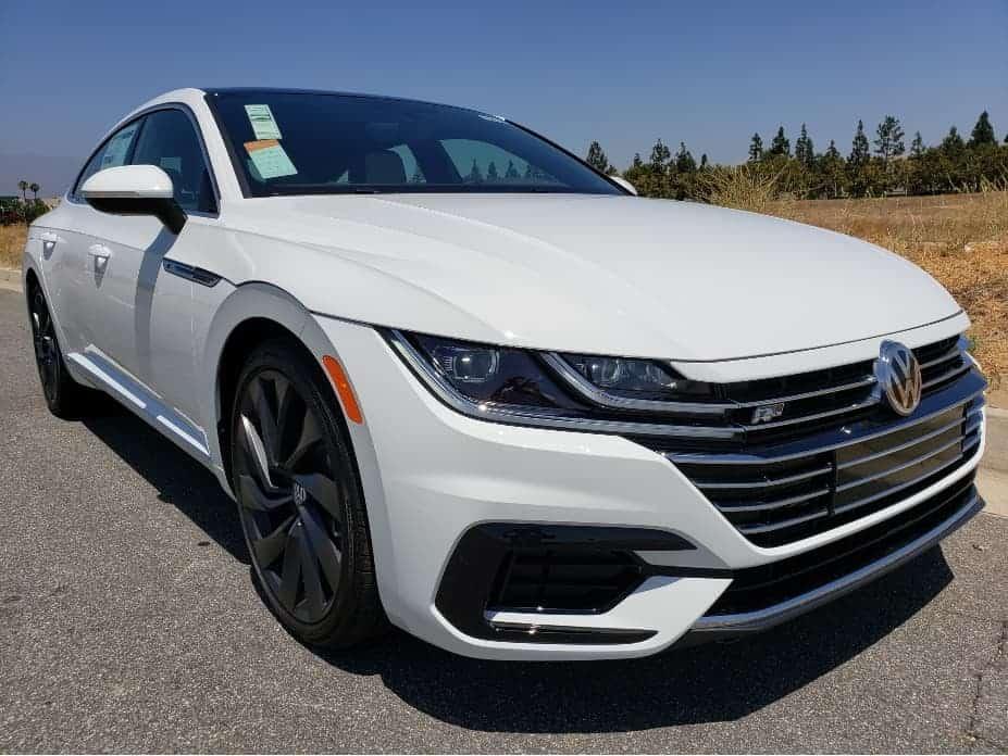 2020 VW Arteon R-Line SEL pure white passenger front