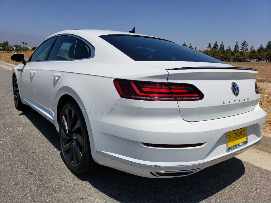 2020 VW Arteon pure white driver rear