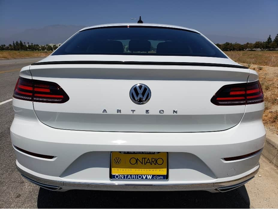 Pure white 2020 VW Arteon rear