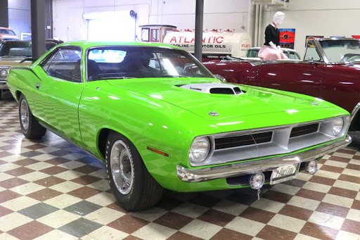 Green 1969 Barracuda for Muscles And Mojo at The Murphy Auto Museum