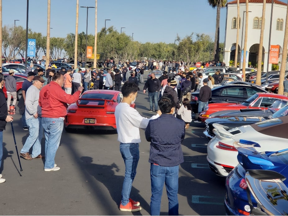 Crystal Cove Cars And Coffee Canceled - crowd