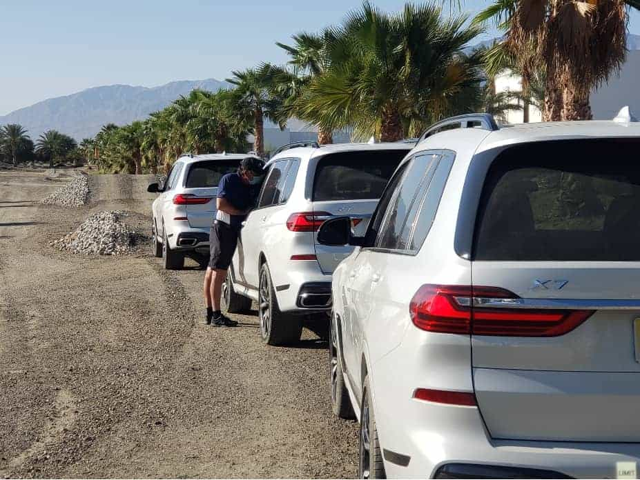 Line Up of BMW X7s Ready For Off-Road