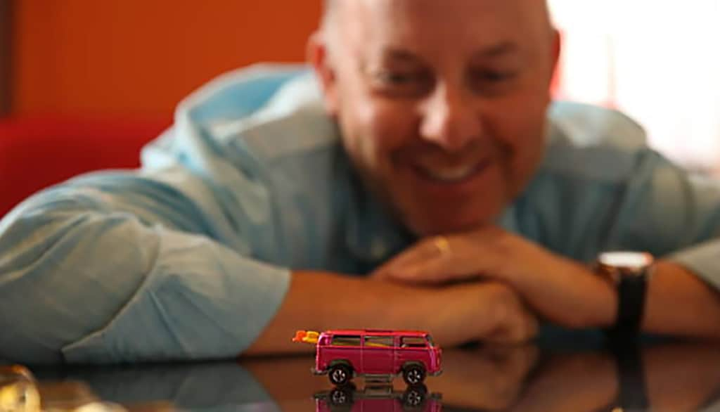 Hot Wheels Volkswagen Beach Bomb and Bruce Pascal
